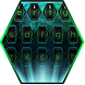 Neon Green Keyboard Nova Tech Theme by ChickenAnt Themes