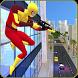 Super Spider Sniper Hero Vs Mad City Mafia Battle