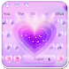 Love Purple Keyboard Theme by Keyboard Design Yimo