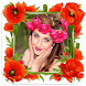 Flower Photo Frames Selfie by Velosys