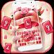 red heart love keyboard by Super Keyboard Theme