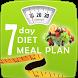 7 Day Diet Meal Plan by Dishu Studios