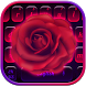 Neon Rose Love Keyboard Theme