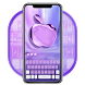 Purple Phone Apple Keyboard by Super Cool Keyboard Theme