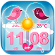 Love Weather and Clock Widget by Cute Princess Apps