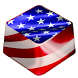 American Flag Keyboard by Premium Keyboard Themes