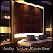 Leather Headboard Design Ideas by John Fehsenfeld jo