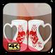 Love Wallpaper Pair Mugs by Cetik Studio