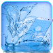 Blue water lily flower theme by cool theme designer