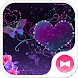 Butterfly Theme Violet Hearts by +HOME by Ateam