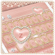 Metallic Rose Gold Keyboard Heart Theme by ChickenAnt Themes