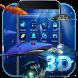 3D Ocean Aquarium Dynamic Fish Theme Skin