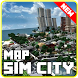 Map of Sim City for minecraft pe by SimpleDrawingStudio
