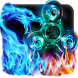 Flame Dragon Fidget Spinner Keyboard Theme by Enjoy the free theme
