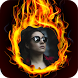 Fire Background Photo Frames Editor by Pixel Frames