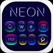 Fluorescent neon Keyboard by Keyboard Design Paradise