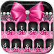 Pink Rose Black Lace Keyboard by ChickenAnt Themes