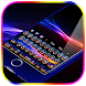 Colorful Neon Keyboard Theme by cool wallpaper