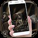 gold silk black keyboard golden grace royal by Keyboard Theme Factory