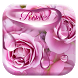 Rose waterdrops keyboard by Echo Keyboard Theme