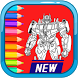 Coloring Transformer Book by mobile legend.