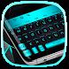 Black Cyan Keyboard by Pretty Cool Keyboard Theme