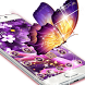 Butterfly Purple Theme by Cool Theme Love