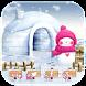 Pink Snowman Snow Winter Theme by Trusty Rabbit Studio