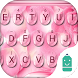 Pinky Water Drops Emoji Theme by Best Keyboard Theme Design