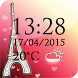 Paris Weather Clock by The World of Digital Clocks