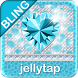 ♦BLING Theme♦ Teal Cheetah SMS by Jellytap