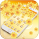 Gold Flower Theme Gold diamond by MT Digits