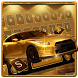 Gold Luxury Car Keyboard Theme by Pretty Keyboard Theme