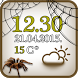 Spider Clock And Weather by The World of Digital Clocks