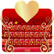 Golden Copper Heart Typewriter by Me&Art Android Theme Designer