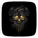 Black and Gold Skull by Huizhang Theme