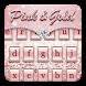 Pink & Gold Keyboard Theme by Keyboard Dreamer