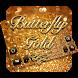 Butterfly Gold Keyboard by Keyboard Tema Designer