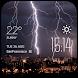 Lightning weather widget/clock by Widget Dev Team