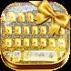 Gold Glitter Luxury Keyboard by cool wallpaper