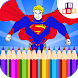 superhero coloring book by icolorz 3D