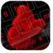 Red Love Heart Keyboard by Personalized Design