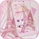 Pink Theme Eiffel Tower Love by MT Digits