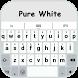 Pure White OS Keyboard Theme by Ace Keyboard Theme
