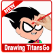 Learn to draw Titans Go step by step by Solutions Dev