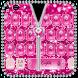 Pink Zipper Glitter Diamond Keyboard Theme by Keyboard Theme Artist (Smart Keyboard Theme 2017)