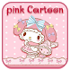 Pink Cartoon Cute Kitty by Cool Launcher Theme