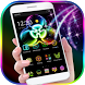 Neon Fidget Spinner Theme for 3D Launcher by LXFighter-Studio
