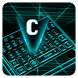 Neon black technology keyboard by B-P Theme Design Studio