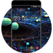 Galaxy Space Tech Theme: Color Neon Wallpaper HD by Best theme store